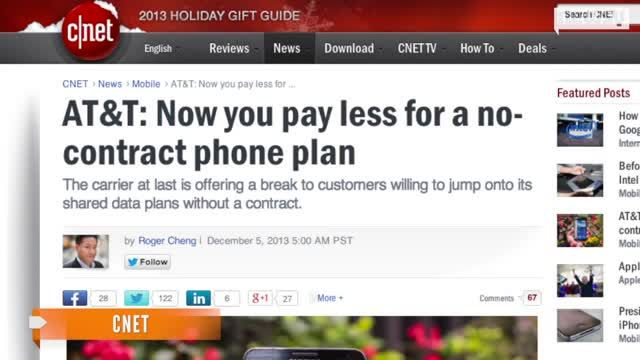 News video: AT Gives No-Contract Customers A Price Break